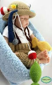 Crochet Baby Halloween Costumes Baby Fisherman Newborn Photo Prop Newborn Fisherman