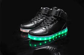 light shoes for women led shoes women black high top remote