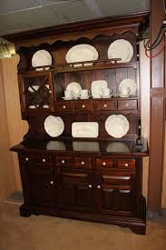 Kitchen Furniture Hutch Ethan Allen Vintage 1970s Antique Pine China Cabinet Hutch Our