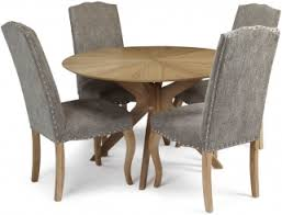 Oak Fabric Dining Chairs Buy Serene Bexley Oak Dining Set Round With 4 Kingston Aubergine