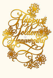 fiftieth anniversary golden years 50th anniversary card greeting cards hallmark