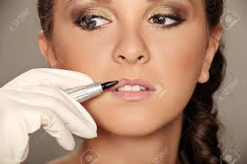 professional permanent makeup professional permanent makeup applying stock photo picture and