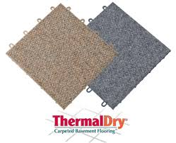 theramldry carpeted basement flooring mold u0026 waterproof