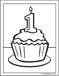 cupcake coloring pages to print birthday cupcake coloring page funycoloring