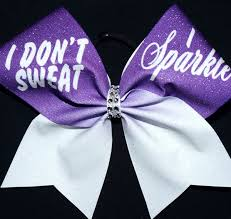 i don t sweat i sparkle i don t sweat i sparkle cheer bow cheer bow factory