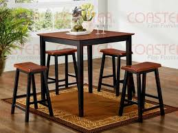 Bar Height Dining Chairs 5pc Counter Height Dining Set In Two Tone Finish Bar
