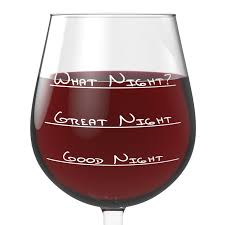 Unusual Wine Glasses by What Night