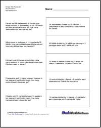 division word problems 4th grade worksheets worksheets