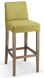 pramit beige fabric seat kitchen breakfast bar stool wooden frame