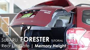 subaru forester lifted subaru forester lift gate support memory height tutorial youtube