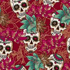 tattoo skull hearts and flowers wallpaper wall mural wallsauce usa save your design for later