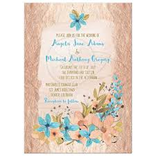 wedding invitations rose rose gold and blue watercolor floral wedding invitation