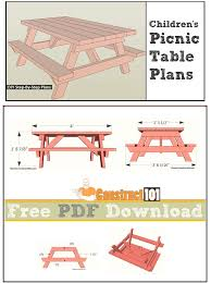 Wood Picnic Table Plans Free by 13 Best Picnic Table Plans Images On Pinterest Picnic Table