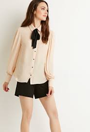 self tie bow blouse tops blouses shirts sleeves