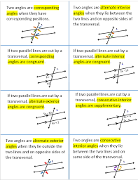 Example Of Alternate Interior Angles Parallel Lines Cut By A Transversal Geometry Pinterest Math