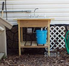 Build Outdoor Garden Table by Best 25 Outdoor Garden Sink Ideas On Pinterest Kitchen Sink