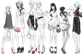 How To Draw Fashion Designs Red And Heels By Hakuku Deviantart Com On Deviantart From Left