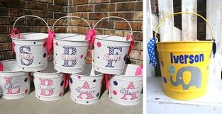 monogrammed easter buckets hippity hoppity personalized 10qt easter buckets easter buckets