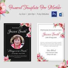 funeral invitation template funeral template 5 word psd format free