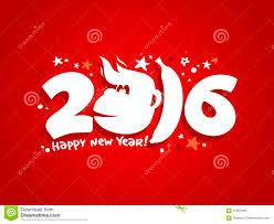 new year card design 2016 new year card design with fiery monkey stock vector