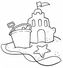 Beautiful Sand Castle Coloring Page Beach Pages Of Sandcastle Coloring Page