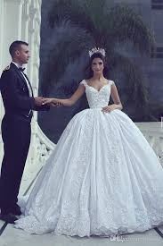 luxury 2017 said mhamad ball gown lace wedding dresses arabic v