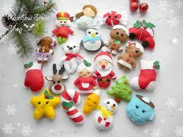 set felt christmas ornament kawaii felt christmas ornaments
