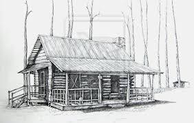 log cabin drawings log cabin line drawing bailey log cabin by nancyzurenda