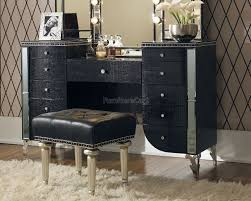Michael Amini Dining Room Furniture Hollywood Swank Vanity Black Iguana Aico Furniture Furniture Cart