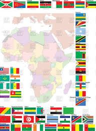 Map Of Africa With Countries by Flags And Map Of Africa With All Countries Vector Image 57635