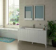 Contemporary Bathroom Sophia 60 Inch Bathroom Vanity With Bianco Marble Countertop