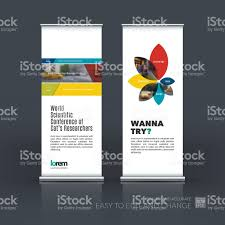 Banner Design Ideas Vector Set Of Modern Roll Up Banner Stand Design With Stock Vector