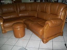 canape d occasion particulier canapé d angle en cuir et en bois massif paul les dax 40990