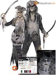 mens ladies ghost zombie pirate costume make up halloween fancy