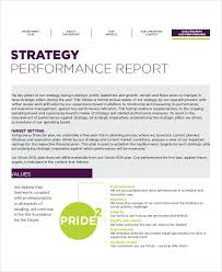 performance report template performance review template for