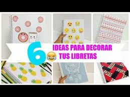 como forrar un cuaderno con tela youtube 6 ideas para decorar cuadernos libretas facil youtube