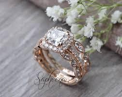 Engagement Rings And Wedding Band Sets by Bridal Sets Etsy