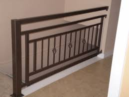 metal landing banister and railing cool idea for second floor landing railing stair railing ideas