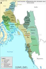 Bay Of Bengal Map Chittagong Map Districts In Chittagong Division Of Bangladesh