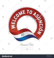 Paraguayan Flag Welcome Asuncion Paraguay Flag Logo Icon Stock Vector 669825313