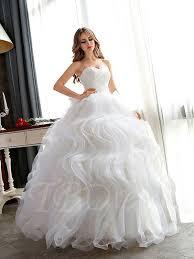 plus size gown wedding dresses plus size floor length ruffles gown wedding dress tbdress