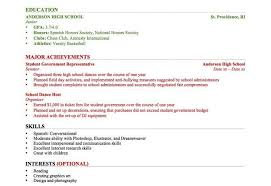 resume examples for college students with work experience sample