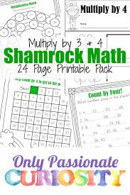shamrock math times tables printables u2013 only passionate curiosity