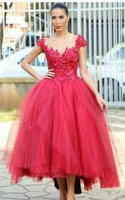 tea formal gowns mid length prom dresses dorris wedding