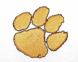 clemson tiger paw counted cross stitch from lesliescraftshop on etsy