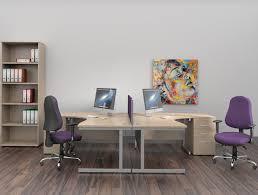 Corner Desk Beech Ashford Cantilever Leg Radial Desk In Beech