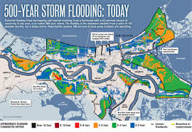 Map Of New Orleans Districts by Northwest Carrollton New Orleans Flood Maps Katrina And