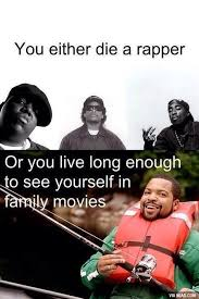Ice Cube Meme - ice cube you either die a hero or you live long enough to see