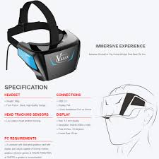 viulux v1 vr headset virtual reality glasses display vr game 3d