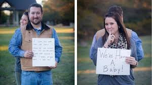 baby announcement baby announcement husband has no idea what s sign says